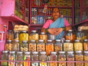 A small roadside-stall near the Worli village fish market in Mumbai. What happens to these kind of shops in future?Photo Credit: Stall in pink by Meena Kadri, CC BY 2.0